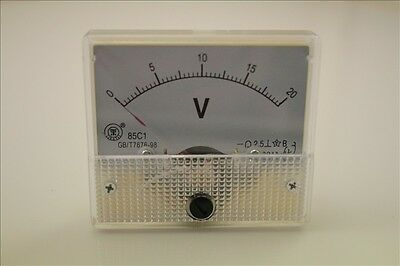 0~20V DC 85C1 Analog Volt Voltage Panel Meter Voltmeter QC