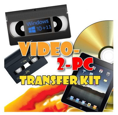 Copy VHS Video & Camcorder Tapes Cassettes to PC / DVD on Windows 10, 8 & 7