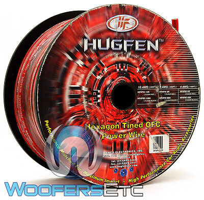 Hugfen Hfhpw-4R 4 Gauge Red 100 Feet Hexagon Tined Oxygen Free Power Wire Cable