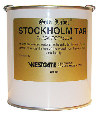 Gold Label Equestrian Stockholm Tar Thick 450g Hoof Health Horse Care Equine
