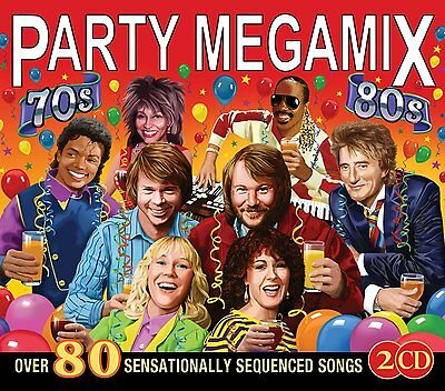 Party Megamix From The 70S And 80S Over 80 Sensationally Sequences Songs 2 Cd