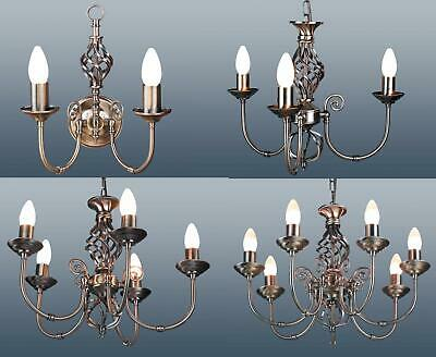 2 Arm Wall 3 5 7 Arm Classic Ceiling Light Pendant Chandelier Antique Brass NEW