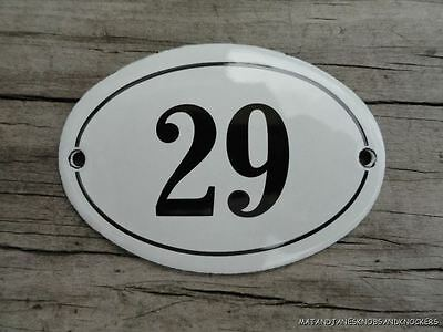 Small Antique Style Enamel Door Number 29 Sign Plaque House Number Furnituresign