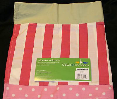 CoCo & Company PLAY DATE Window Valance 53x15 new