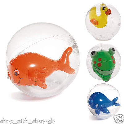 NOVELTY FUN BEACH BALL HOLIDAY SWIMMING POOL - VOLLEY GARDEN KIDS TOY 20CM DUCK