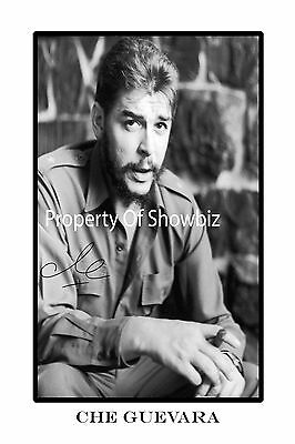 Che Guevara - Large Autograph Signed Poster Print Photo  - Looks Great Freamed