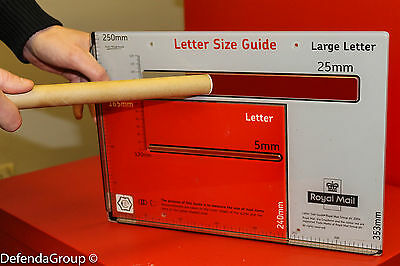 """100 LARGE LETTER size PiP POSTAL TUBES 14""""x0.86"""" Cardboard PRICING IN PROPORTION"""