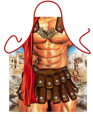The Gladiator man kitchen apron dad gag gifts BBQ party Polyester one size ITATI