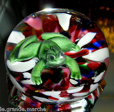BOB ST. CLAIR AMERICAN MID-CENTURY ART GLASS FROG MAGNUM PAPERWEIGHT