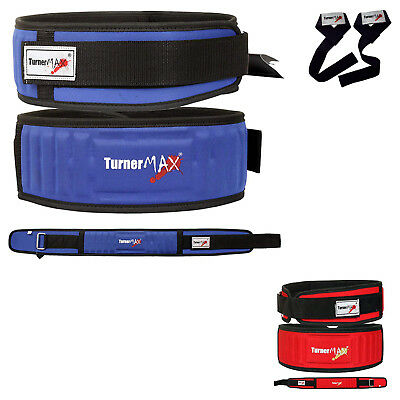 TurnerMAX Weight lifting body building back support fitness training gym belt