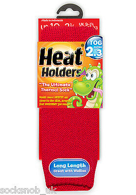 Boys Girls AGE 3-7 YEARS Thermal Heat Holder Socks Size 9-1 Uk Red