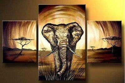 MODERN ABSTRACT HUGE WALL ART OIL PAINTING ON CANVAS-Elephant