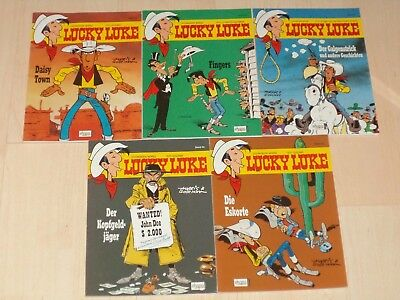 Comics 5 Lucky Luke Bände Band 40, 41, 42, 43 und 44 1A!!!