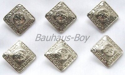 6 Replacement Buttons Prince Charlie Argyll Jackets 14Mm Chrome Finish Kiltwear