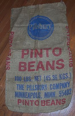 Pillsbury Burlap Sack, Pint Beans, Minneapolis, Mn