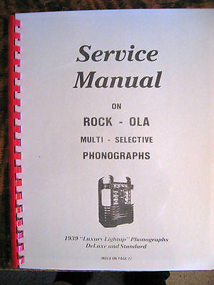 Rock-ola 1939 Luxury Lightup DeLuxe and Standard Manual