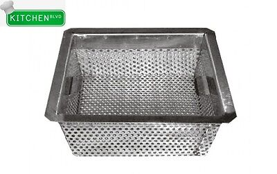 "Stainless Steel Floor Sink Basket 10"" x 10"" x 5"""