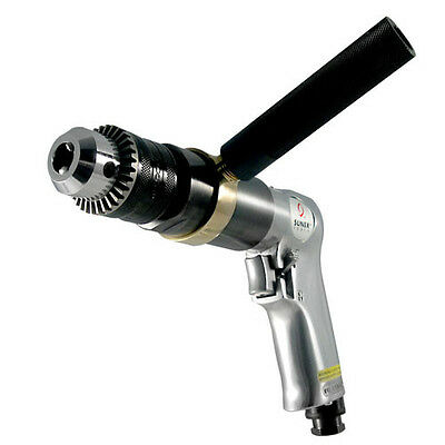 """Sunex SX221B 1/2"""" Drive Reversible Air Drill with Chuck (Smooth Operation)"""