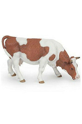 Papo Grazing Simmental Cow Farm Barn Animal Toy Figure Pretend Play 51147 NEW