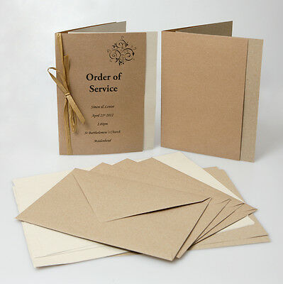 Kraft Recycled paper insert sheets 100gsm ( pack of 50)