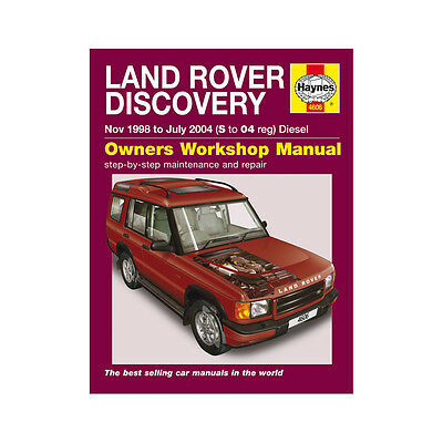 HAYNES MANUAL Land Rover Discovery 2.5 Diesel 1998-04 (S To 04 Reg)