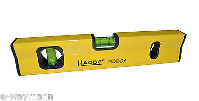Aluminium Box Section Twin Vial  300mm Magnetic Spirit Level with Storage Pouch
