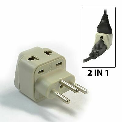 OREI 2 in 1 Switzerland Travel Adapter Plug - US to Swiss Type J - Grounded