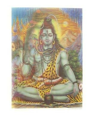 Carte Lord Shiva Parvati  hindou lenticulaire hologramme 3d relief 8671