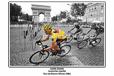 *CADEL EVANS* Large signed poster of Tour de France winner! Great as a gift!