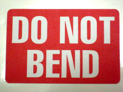 500 BIG 2x3 DO NOT BEND LABEL STICKER - BEST SELLER