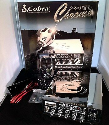 Cobra 29 LTD Chrome Classic CB Radio - Peaked To Highest Level Allowed By Law