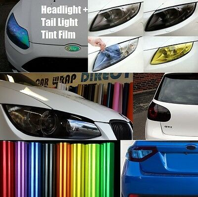 Headlight + Tail light Tinting Vinyl Film - Smoked, JDM Yellow, Chameleon + More