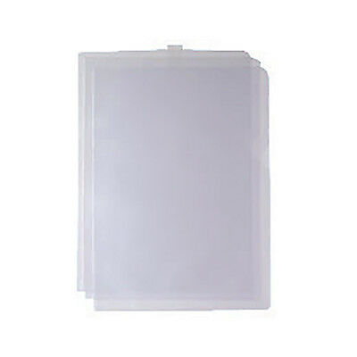 100 x CLEAR PLASTIC A4 CUT FLUSH FOLDERS WALLETS OPEN TOP & SIDE NP WX24002