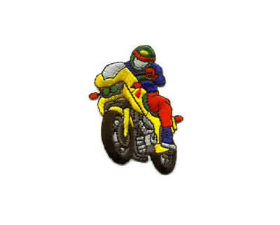 Motorcycle Racing - Motorcycle - Fully Embroidered Iron On Patch