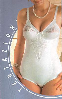 FBM Intimo Lingerie Donna Body pizzo colore bianco tg.3'