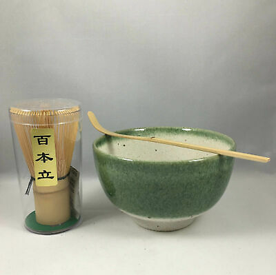 Japanese Tea Ceremony Matcha Bowl Scoop// Whisk Set//GINSUGI With Gift Box// A-2