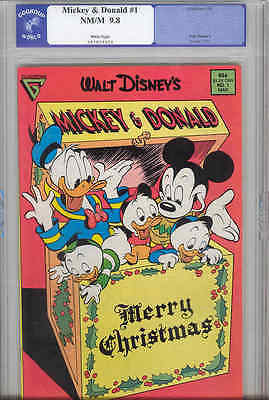 Mickey & Donald #1  CGG ( Now PGX) 9.8 1988 Gladstone Comic