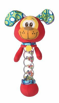 Brand New Playgro Puppy Dog Twinkle Stick Rattle Baby Toy