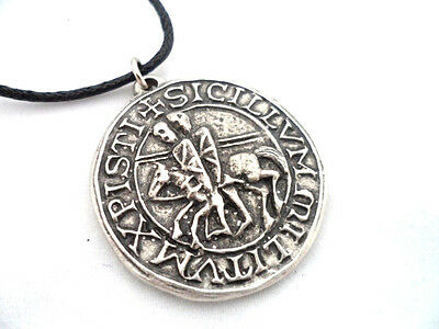 Knights Templar Seal Pewter Pendant