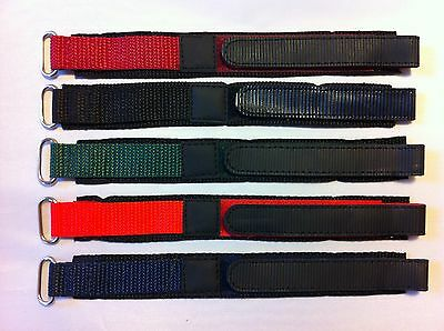 Quality Nylon Velcros Watch Strap 14mm and 18mm Various Colours Available
