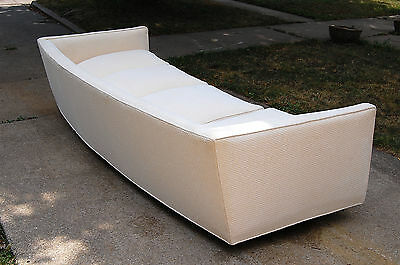 Rare Harvey Probber Angled Arm Curved Sofa Couch