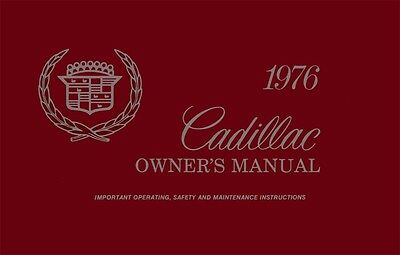 1976 Cadillac Owners Manual User Guide Reference Operator Book Fuses Fluids OEM