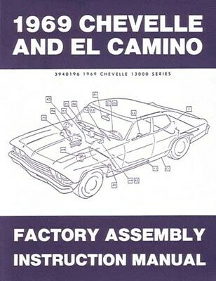 1969 Chevrolet Chevelle El Camino Assembly Manual Instruction Illustrations OEM