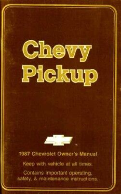1987 Chevrolet Pickup Truck Owners Manual User Guide