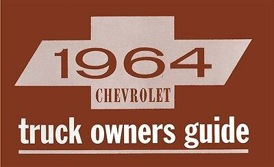 1964 Chevrolet Truck Owners Manual User Guide Reference Operator Book Fuses OEM