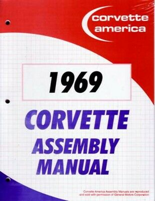 1969 Chevrolet Corvette Assembly Manual Book Rebuild Instructions Illustrations