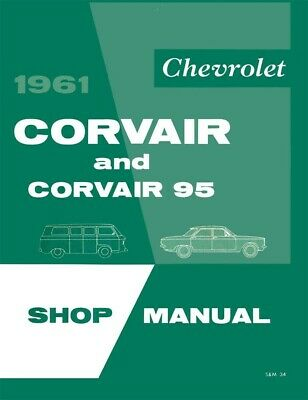 1961 Chevrolet Corvair Shop Service Repair Manual Engine Drivetrain Electrical