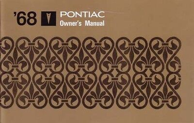 1968 Pontiac Owners Manual User Guide Reference Operator Book Fuses Fluids OEM