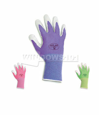 12 Pairs Atlas 370 Nitrile Gloves Garden Auto Work Paint Landscaping (ANY COLOR)