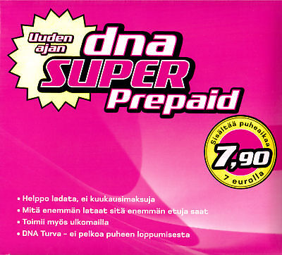 Refill (recharge, top up) DNA Finland prepaid SIM 10 € 180 Days